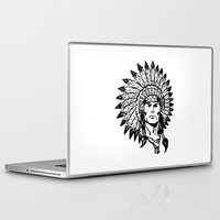 headdress Laptop & iPad Skins featuring Headdress by Gregg Deal
