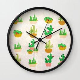 Cacti Festival Wall Clock