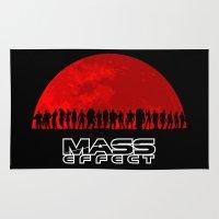 mass effect Area & Throw Rugs featuring Mass Effect by TxzDesign