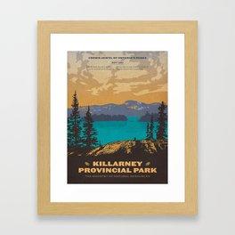 Vintage poster - Killarney Provincal Park, Canada Framed Art Print