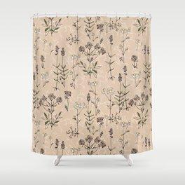 homeland flora Shower Curtain