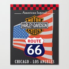 Route 66 USA Canvas Print