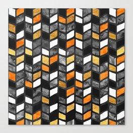 Fall Herringbone Canvas Print
