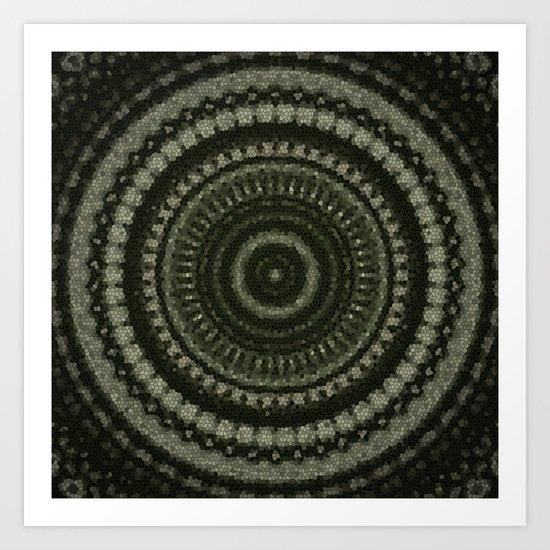 Fractal Kaleido Study 005 in CMR Art Print