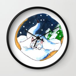 Frosty Fort Wall Clock