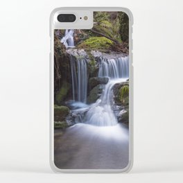 Waterfall in the Âncora river on fall season Clear iPhone Case