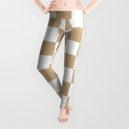 Checkered (Tan & White Pattern) Leggings