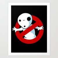 ghost busters Art Prints featuring Kodama Busters by adho1982