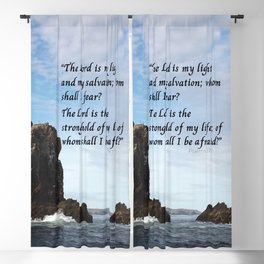 Psalms 27:1 The Lord is my light and Stronghold Blackout Curtain
