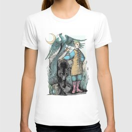 Tzarovich Ivan and grey wolf T-shirt