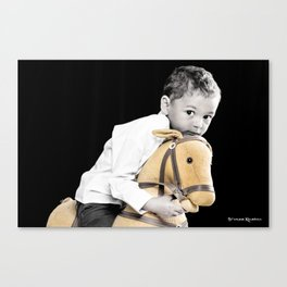 The Golden Horse and The Scary Kid Canvas Print