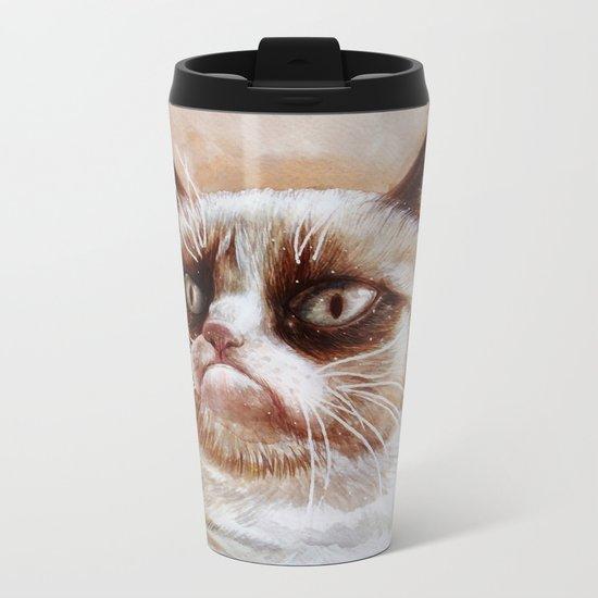 Grumpycat Metal Travel Mug