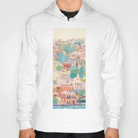 greece Hoodies featuring symi island greece by Selgun Turkoz