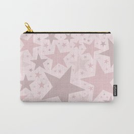 Popping Pink Pastel Stars Carry-All Pouch