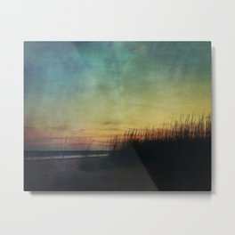 Floating in a Turquoise Sea Metal Print
