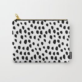 Hand drawn drops and dots on white-Mix & Match with Simplicty of life Carry-All Pouch