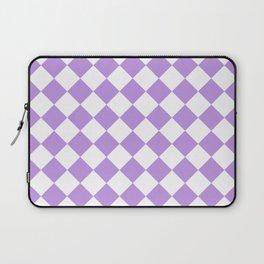 Diamonds - White and Light Violet Laptop Sleeve