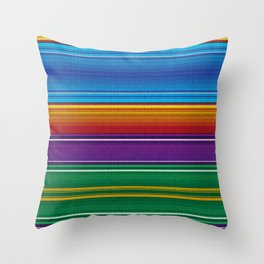 Mexican serape #3 Throw Pillow