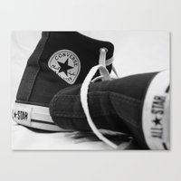 converse Canvas Prints featuring Converse by Jessy Belanger