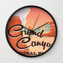 Grand Canyon National Park Travel Poster Wall Clock