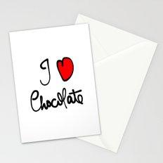 i love chocolate Stationery Cards