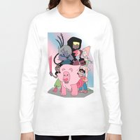 steven universe Long Sleeve T-shirts featuring Steven Universe by Laura Pulido