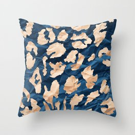 Gold Leaf - Leopard Pattern Throw Pillow
