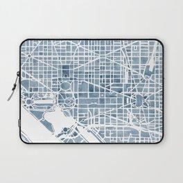 Washington DC Blueprint watercolor map Laptop Sleeve