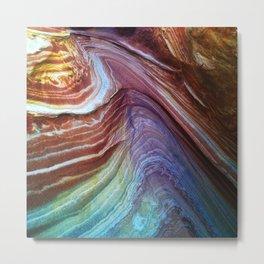 Paria Wilderness Canyons Natural 'Painted' Sandstone Macro Photo Metal Print