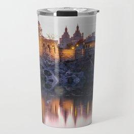 Belvedere Castle Central Park Night Travel Mug