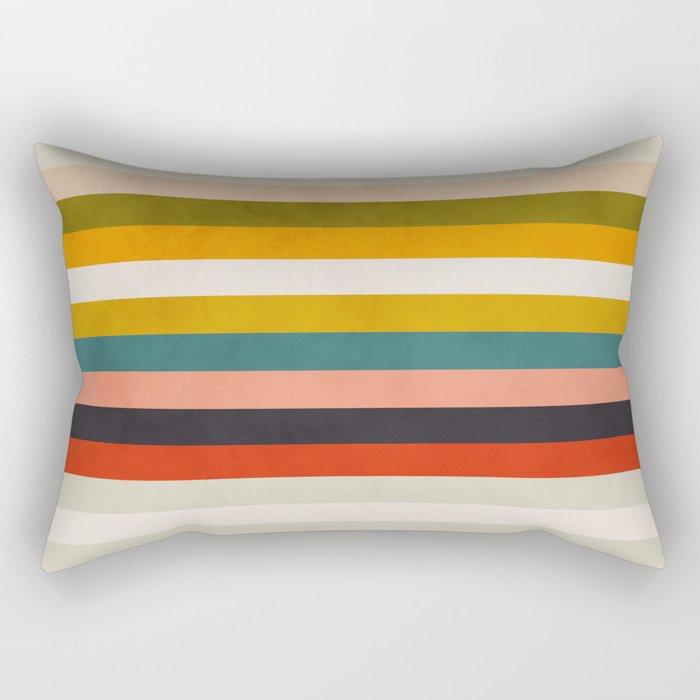 modern abstract stripe geometric Rectangular Pillow