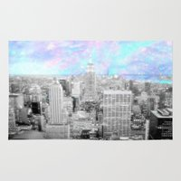 new york city Area & Throw Rugs featuring New York City. by 2sweet4words Designs
