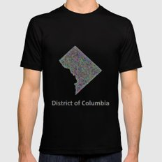 DC map Mens Fitted Tee Black MEDIUM