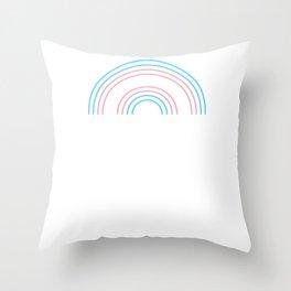 Gay Pride LGBT Transgender Rainbow Stripe design Throw Pillow