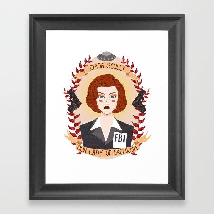 Dana Scully Framed Art Print
