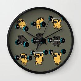 OLYMPIC LIFTING PUG Wall Clock