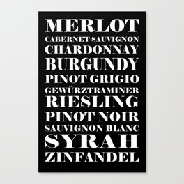 Wine Celebration - black Canvas Print