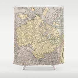 Vintage Map of Edinburgh Scotland (1901) Shower Curtain