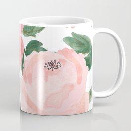 Peony Watercolor Collage Coffee Mug