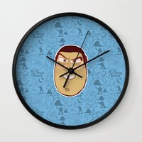 toy story Wall Clocks featuring Buzz Lightyear - Toy Story by Kuki