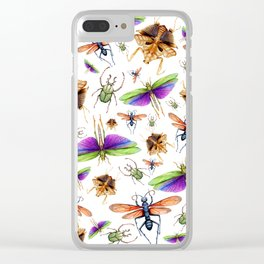 Vibrant Insect Swarm Clear iPhone Case