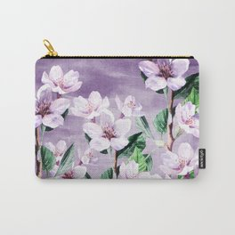 Summer Garden (Apricot in Purple) Carry-All Pouch