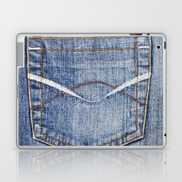 Smile in jeans pocket Laptop & iPad Skin