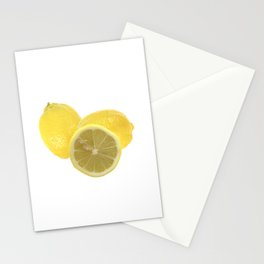 Fresh lemon Throw Stationery Cards