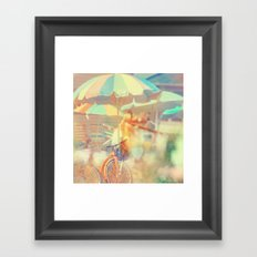 Seaside Town Framed Art Print