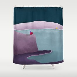 Simple Housing | So close so far away Shower Curtain