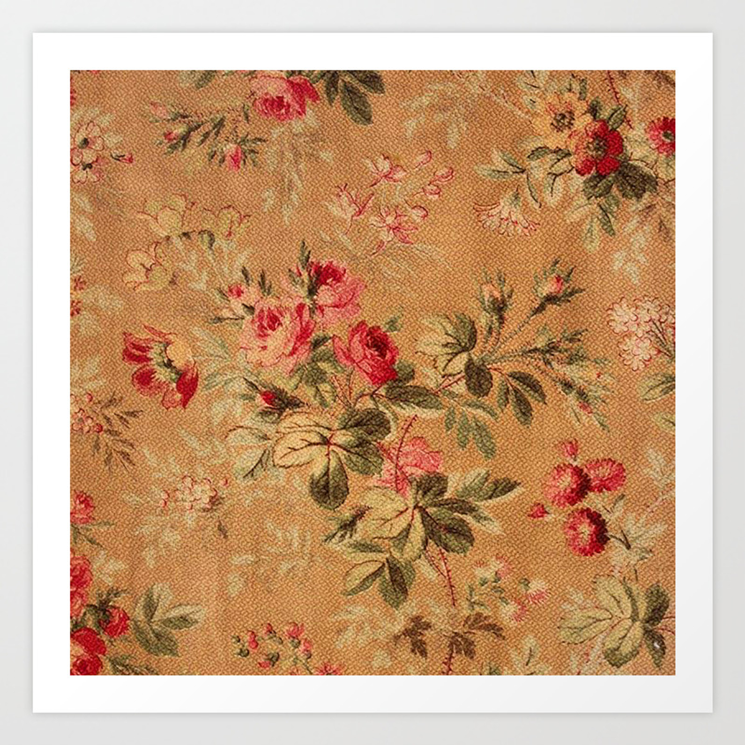 Vintage Floral Pattern Art Print By Digitaleffects Society6