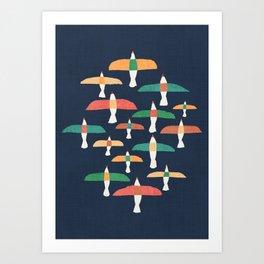 Vintage seagull Art Print
