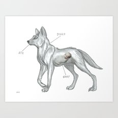 MAYBE THE DINGO ATE YOUR BABY Art Print
