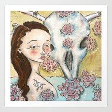 Bones and Blooms I Art Print